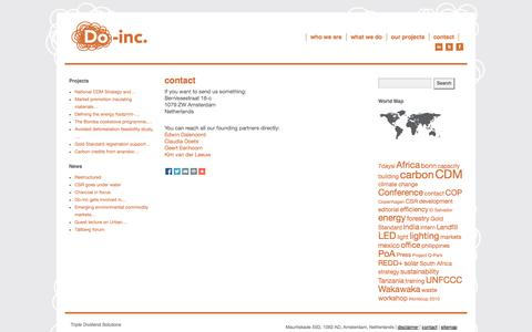 Screenshot of Contact Page do-inc.net - contact | Do-inc - captured Sept. 30, 2014