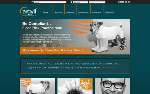 Screenshot of Home Page argyllenvironmental.co.uk - Environmental Risk Reports | Argyll Environmental - captured Oct. 4, 2014