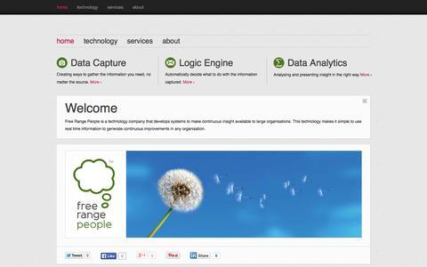 Screenshot of Home Page freerangepeople.co.uk - Free Range People - captured Sept. 30, 2014
