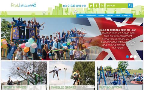 Screenshot of Home Page parkleisure.com - MUGA, Skate & Playground Manufacturer Park Leisure & Sport - - captured Oct. 21, 2016