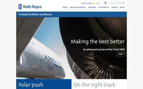 Screenshot of Home Page rolls-royce.com - Rolls-Royce - captured Feb. 23, 2016
