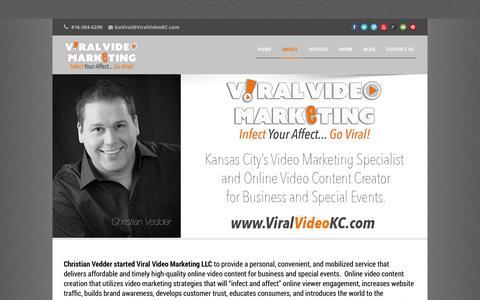 Screenshot of About Page viralvideokc.com - Christian Vedder   Viral Video Marketing   Kansas City - captured Oct. 2, 2014