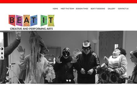 Screenshot of Home Page beatit.org.uk - Beat It Sessions - Music, Dance and DramaBeat It Sessions | Music, Dance and Drama - captured Sept. 11, 2015