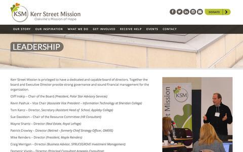 Screenshot of Team Page kerrstreet.com - Leadership | Kerr Street Mission - captured July 5, 2018