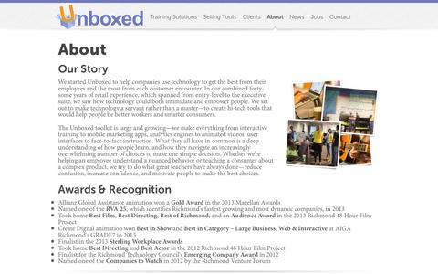 Screenshot of About Page unboxedtechnology.com - Unboxed Technology - About - captured Sept. 30, 2014