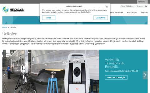 Screenshot of Products Page hexagonmi.com - Ürünler | Hexagon Manufacturing Intelligence - captured Nov. 25, 2017