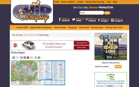 Screenshot of Maps & Directions Page chipandco.com - Parks Maps - captured Sept. 19, 2014