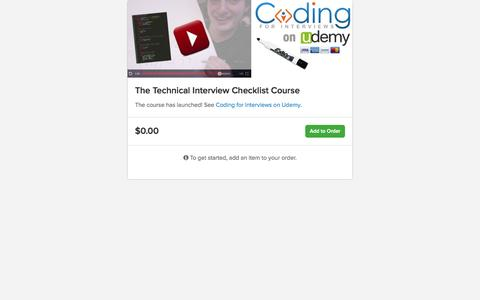 Screenshot of trycelery.com - The Technical Interview Checklist Course   Celery - captured July 15, 2015