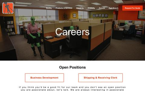 Screenshot of Jobs Page area51esg.com - Careers — Supplier Diversity - Electronic Component Distributor - Area51 - captured June 27, 2017