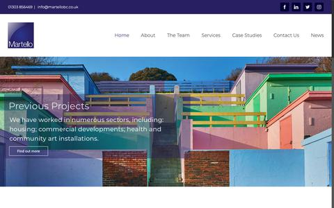 Screenshot of Home Page martellobc.co.uk - Martello Architecture; Surveying and Cost Consultancy Services of Folkestone Kent - captured Nov. 15, 2018