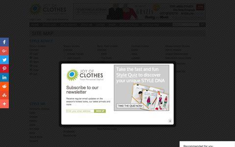 Screenshot of Site Map Page joyofclothes.com - Site Map | Joy of Clothes - captured June 8, 2017