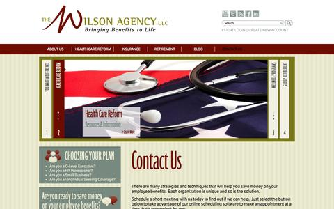 Screenshot of Contact Page thewilsonagency.com - Contact Us   Wilson Agency - captured Sept. 30, 2014