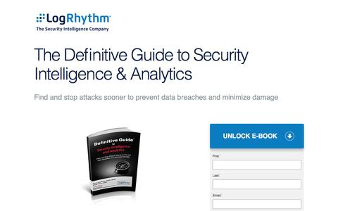 The Definitive Guide to Security Intelligence & Analytics | LogRhythm