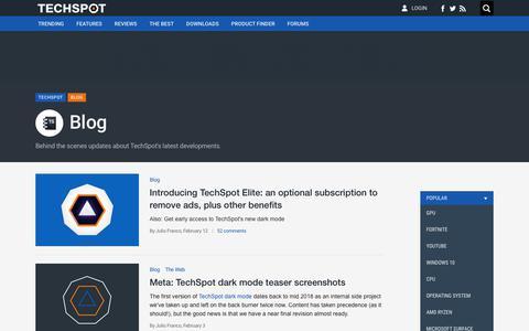 Screenshot of Blog techspot.com - Blog - TechSpot - captured Feb. 13, 2020