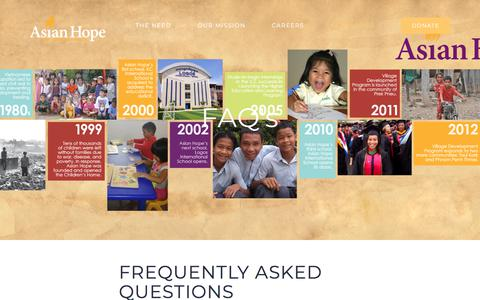 Screenshot of FAQ Page asianhope.org - Frequently Asked Questions – Asian Hope - captured July 30, 2018