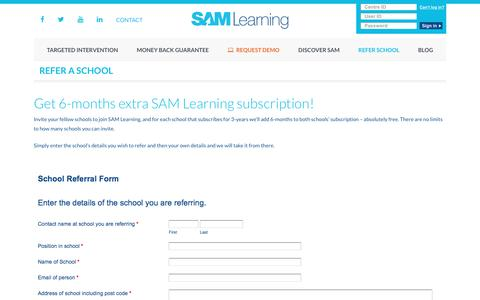 Refer a school and earn 6 months free subscription for both schools