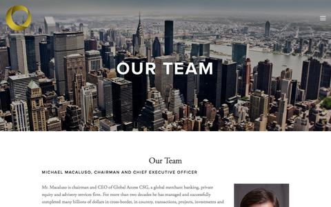 Screenshot of Team Page globalaccesscsg.com - Our Team — Global Access - captured July 19, 2018