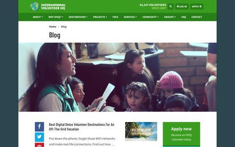 Screenshot of Blog volunteerhq.org - Blog | International Volunteer HQ - captured Aug. 13, 2018