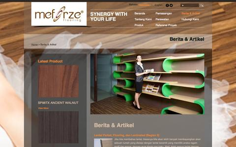 Screenshot of Press Page meforze.com - Meforze |   Berita & Artikel - captured Oct. 1, 2014