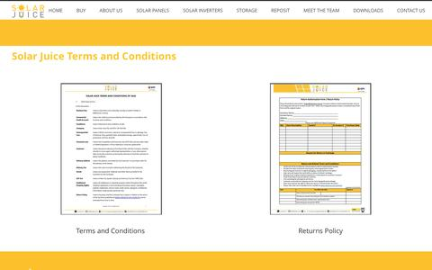 Screenshot of Terms Page solarjuice.com.au - Solar Juice Terms and Conditions – Solar Juice - captured Dec. 11, 2016