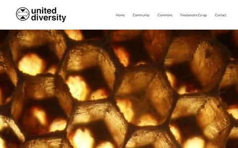 Screenshot of Contact Page uniteddiversity.coop - Contact - captured Jan. 10, 2016