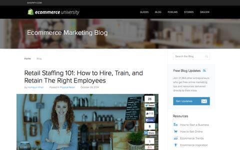 Screenshot of Blog shopify.com - Ecommerce Marketing Blog - Ecommerce News, Online Store Tips & More by Shopify - captured Oct. 10, 2014