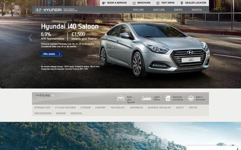 Hyundai i40   Fuel Efficient Family Saloon Car   Hyundai UK