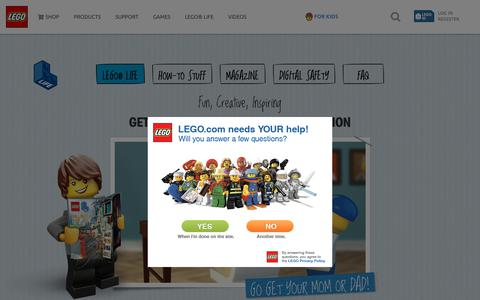 Screenshot of Signup Page lego.com - LEGO Life Subscription US - captured Aug. 27, 2018