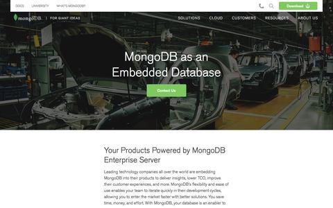 MongoDB as an Embedded Database | MongoDB