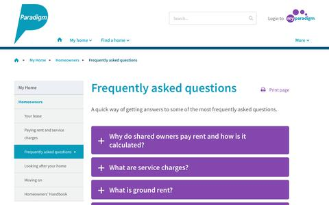 Screenshot of FAQ Page paradigmhousing.co.uk - frequently asked questions - captured Oct. 23, 2017