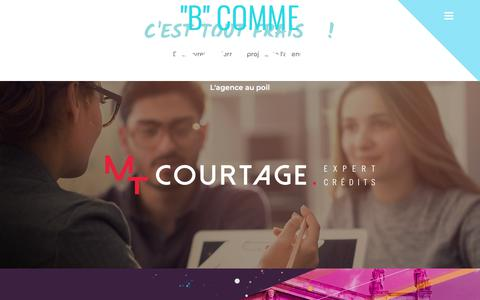 Screenshot of Home Page bleu-equipage.com - Accueil - Bleu Equipage Communication - captured Sept. 24, 2018