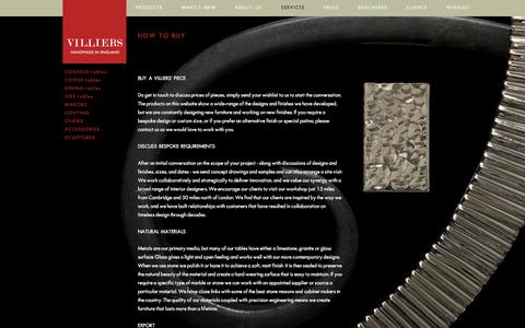 Screenshot of Services Page villiers.co.uk - Our Services | Villiers.co.uk - captured Oct. 7, 2014