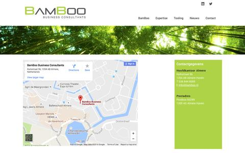 Screenshot of Contact Page bamboo.nl - Neem contact op met BamBoo Business Consultants - captured Nov. 22, 2016