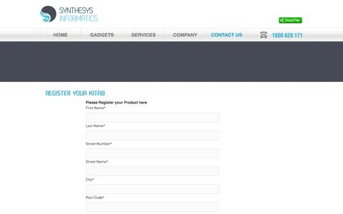 Screenshot of Signup Page synthesysinformatics.com - :: Synthesys Informatics - Registration :: - captured Oct. 7, 2014