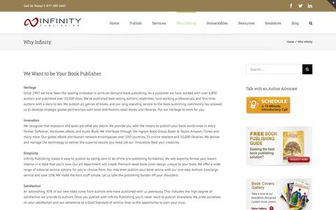 Why Infinity – Self Publishing | Self Publishing Companies | Book eBook Publisher
