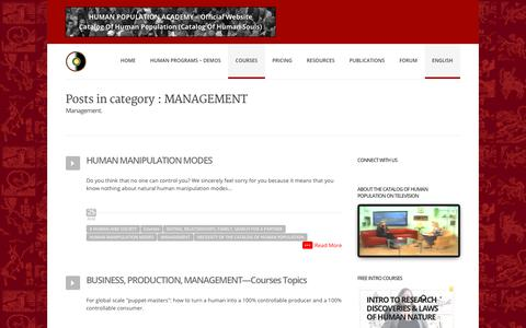 Screenshot of Team Page humanpopulationacademy.org - MANAGEMENT Archives — HUMAN POPULATION ACADEMY - Official Website - captured July 24, 2018