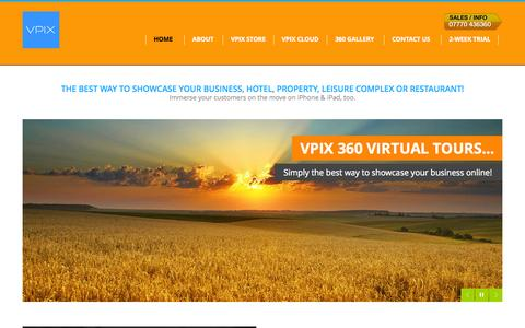 Screenshot of Home Page vpix.co.uk - 360 Virtual Tours  for Business, Hotels and Property | VPiX 360 UK - captured Oct. 7, 2014