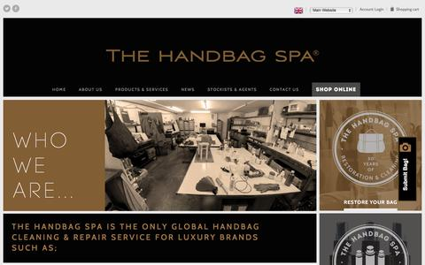 Screenshot of About Page thehandbagspa.com - Who We Are | The Handbag Spa - captured Feb. 15, 2016