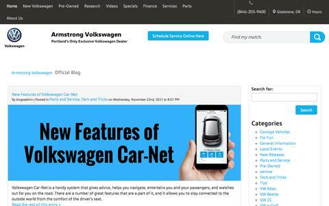Screenshot of Blog armstrongvw.com - Armstrong Volkswagen - Official Blog - captured Dec. 3, 2017