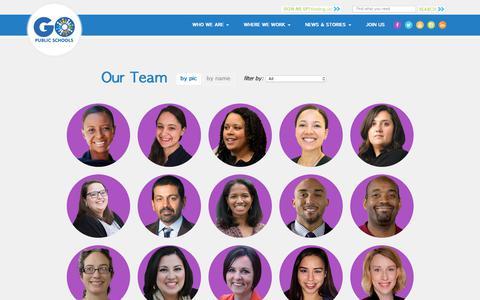 Screenshot of Team Page gopublicschools.org - Our Team | GO Public Schools - captured Nov. 11, 2018