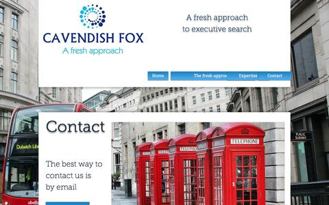 Screenshot of Contact Page cavendishfox.com - Contact - captured May 15, 2017