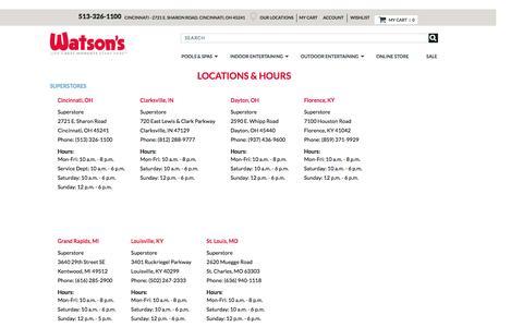 Screenshot of Locations Page watsons.com - Locations - captured Oct. 21, 2016
