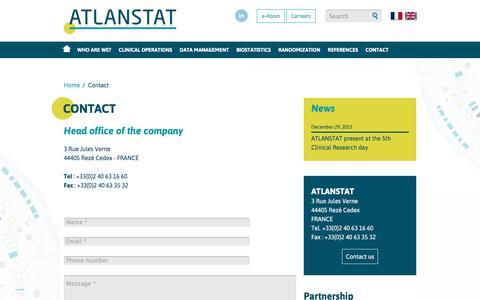 Screenshot of Contact Page atlanstat.com - Contact informations - Atlanstat - captured July 24, 2016