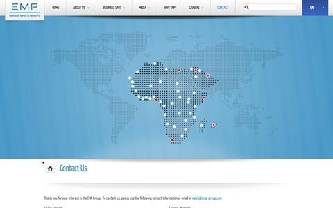 Screenshot of Contact Page emp-group.com - Contact Us   EMP - captured Oct. 2, 2014