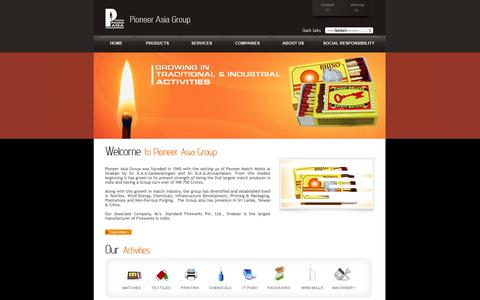 Screenshot of Home Page pioneerasia.com - :: WELCOME TO PIONEER ASIA GROUP :: - captured Oct. 2, 2014