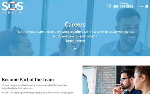 Screenshot of Jobs Page spotonsolutions.com - Careers   Spot On Solutions - captured Nov. 18, 2018