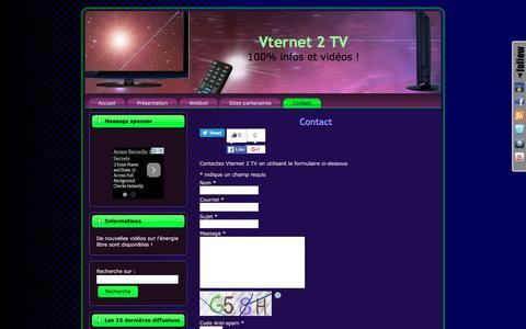 Screenshot of Contact Page vternet2.tv - Contacter Vternet 2 TV | Vternet 2 TV - captured April 21, 2016