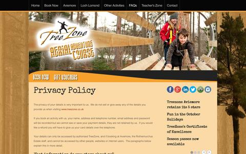 Screenshot of Privacy Page treezone.co.uk - Privacy Policy - captured Dec. 15, 2016
