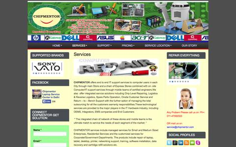 Screenshot of Services Page chipmentor.com - Services | Chipmentor - captured Oct. 2, 2014