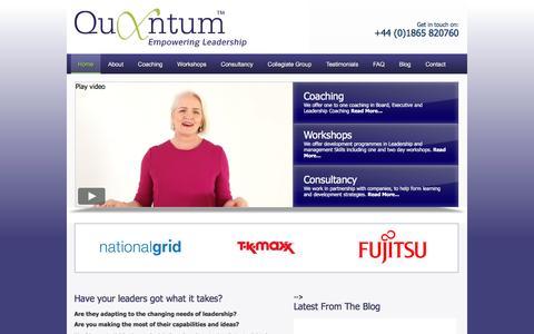 Screenshot of Home Page quantumdp.com - Quantum Corporate Coaching | Executive Coach & Consultancy Workshops - captured Nov. 12, 2016